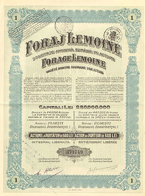 Lemoine Drilling > Romania certificate bond