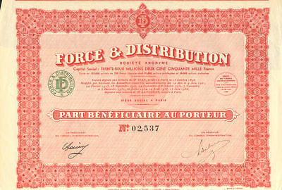 Force 8 Distribution > France certificate stock