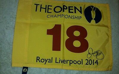 Rory McILROY signed autograph 2014 British Open Championship pin flag PSA/DNA