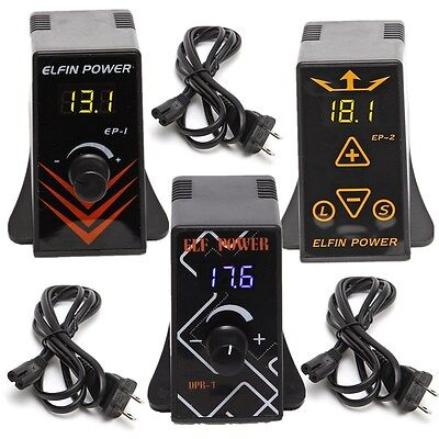 Neuf Pro Tattoo Mini Power Supply Digital Display For Machine Gun Foot Pedal EP