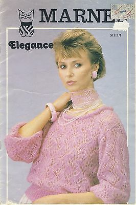 Marnel Elegance women's sweaters  tops knit & crochet pattern booklet