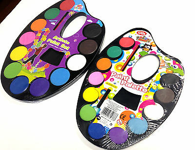 Artist Paint Palettes Set For Kids Child Painting Art Craft 12 Assorted Colours