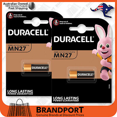 2 (2x1) Duracell 12V MN27 27A L828 A27 B-1 V27GA batteries *Fast Post*GENUINE*