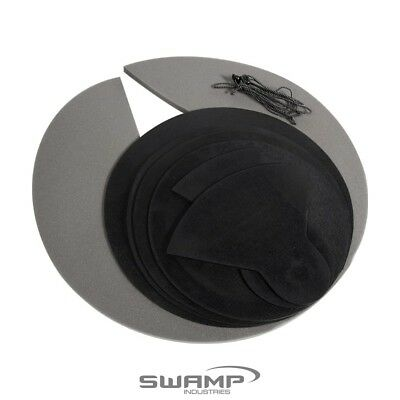 SWAMP Drum Kit Practice Pads - 7-piece Set - Rubber and Felt Muting Silence Pads
