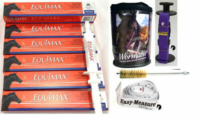 Premium One Year Horse Pony Wormer Rotation (6)+Wormabit Purple+Horse Weight Tap