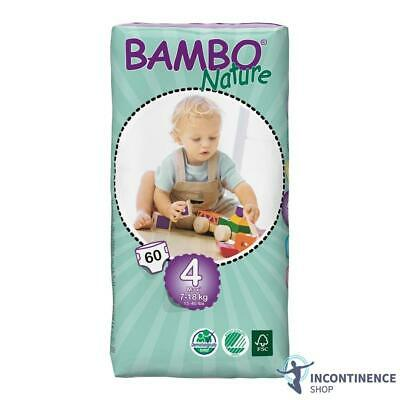 Bambo Nature Size 4 - Maxi (7kg - 18kg) - Pack of 60