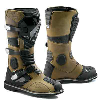 Forma Terra motorcycle boots, mens, brown, black, all sizes, adventure, wp,