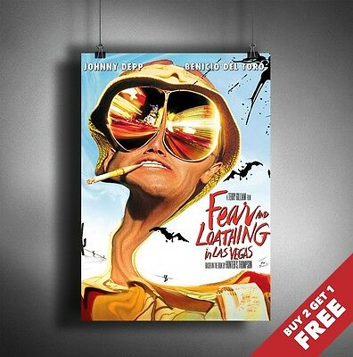 A2 A4 available Fear and Loathing in Las Vegas Vintage Movie Poster A1 A3