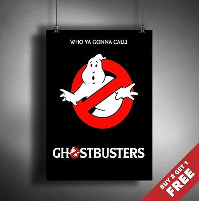 GHOST BUSTERS Poster A3 / A4 Classic Fantastic Movie Art Print Home Decoration