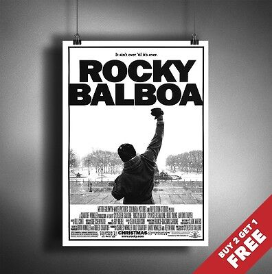 ROCKY BALBOA Poster A3 / A4 Stallone Cult Classic Movie Art Print Home Wall Deco
