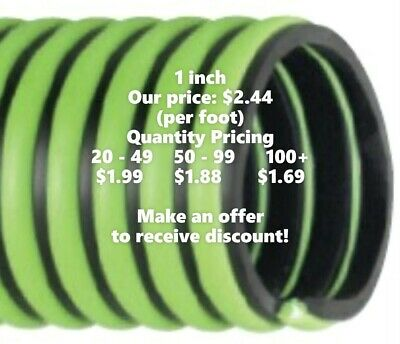 1 inch ID Kanaflex 300 EPDM Green - Septic & Water Suction/Discharge Hose