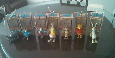 Disneys Magic Puppets lot winnie the Pooh eeyore with Box Mini Marionette Disney
