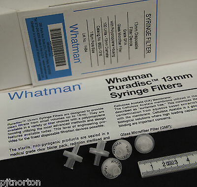 Whatman 13mm Syringe Driven Filter 1.6µm GMF Glass Microfibre GF/A Membrane  x5