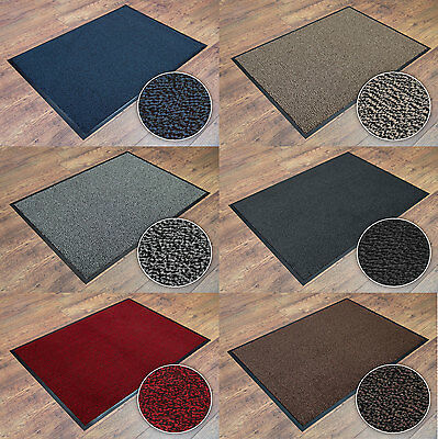 Machine Washable Dirt Resistant Large Small Long Life Barrier Mat Rubber Back