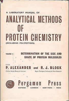 A laboratory manual of Analytical methods of protein chemistry volume 3 HB 1961
