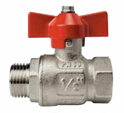 Ball Valve Male x Female BSP ports Tee Handle choose size  1-75xxx