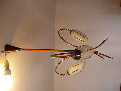 ancien luminaire lampe lustre suspension applique vintage art d co 1960 1970. Black Bedroom Furniture Sets. Home Design Ideas