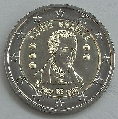 2 Euro Belgien 2009 Louis Braille unz