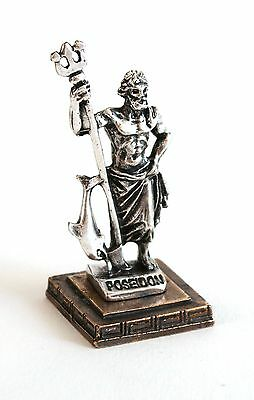 ANCIENT GREEK ZAMAC MINIATURE OF POSEIDON silver