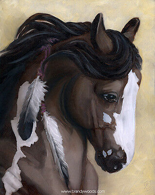 Cavalia Rose Bay Blaze Horse Ranch Profile oil art artwork PRINT Brandy Woods