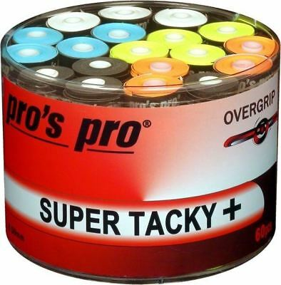 60 x Tub Pro's Pro 0.5mm Thick P.G #2 Overgrip - Assorted