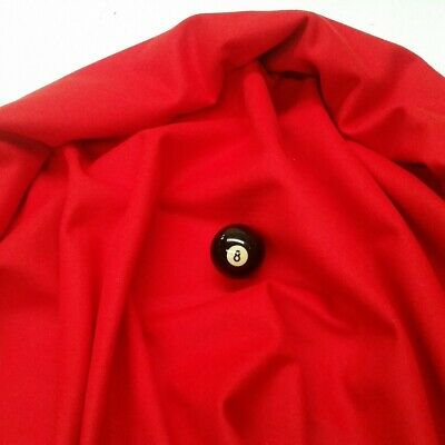 Eddie Charlton DIRECTIONAL Pool Snooker Billiards CLOTH 7ft x 3.6ft - RED