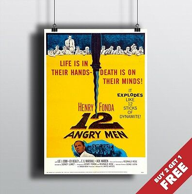 12 Angry Men Classic Movie Large Poster Art Print Maxi A0 A1 A2 A3 A4