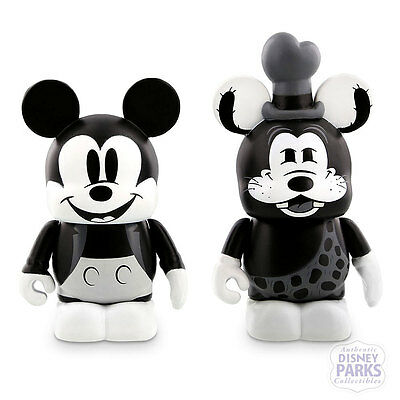 """Disney Parks Vinylmation 3"""" Classic Collection Mickey Mouse Goofy LE NIB"""