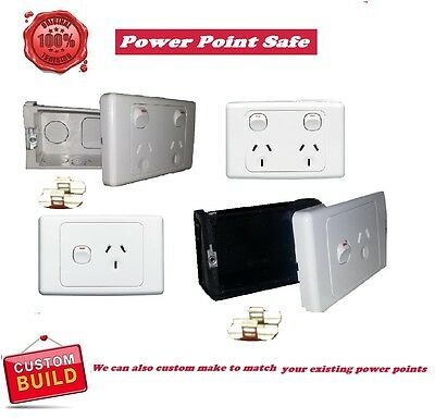 power point STASH hidden compartment diversion safe wall outlet secret box
