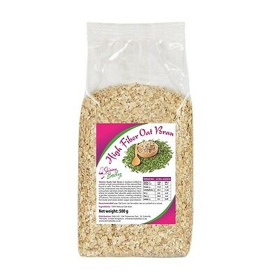 100% Natural High Fiber Oat Bran 500 g, Reduced Carb, Dukan Diet, Medium Milled