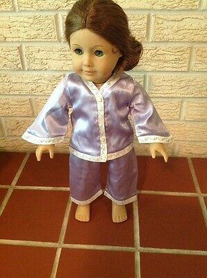 American Girl Nellie's Lavender~Purple Satin Pajamas~Retired