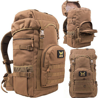 55L Waterproof Sports Tactical Backpack Hiking Travel laptop Bag Schoolbag New