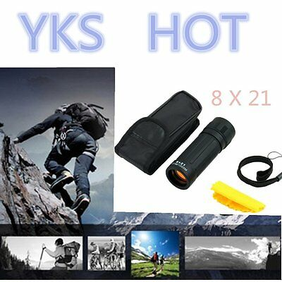 Compact Monocular Telescope Handy Scope for Sports Camping Hunting 8*21 HS