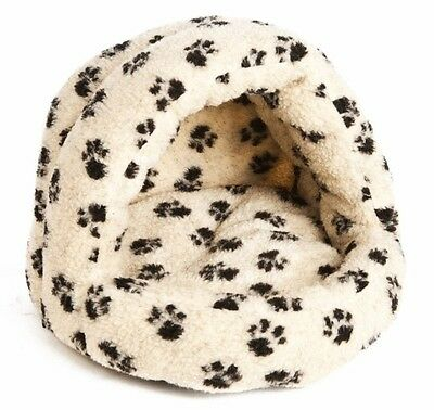 Cat  Kitten Igloo Sherpa Fleece Bed Soft and Cosy Cave Snug