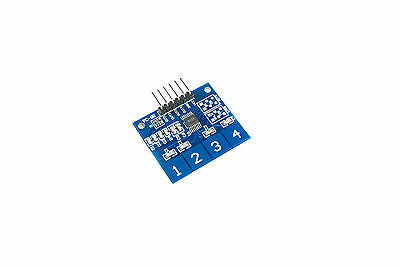 TTP224 4 Channel Touch Sensor Module Capacitive Switch Arduino PI Flux Workshop