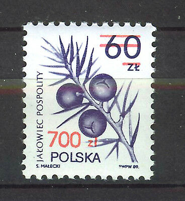 POLONIA/POLAND 1990 SC.2970 Flowers,surcharged