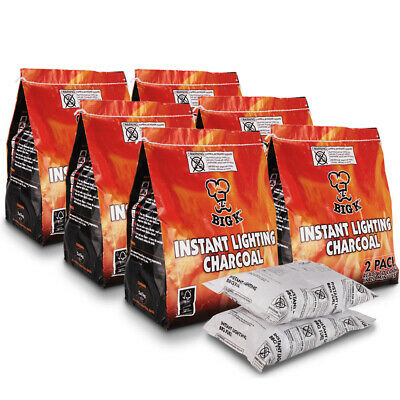 Instant Lighting Charcoal for BBQ Light the Bag Outdoor Cooking Stoves Camping