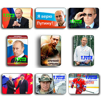 "PUTIN RUSSIAN PRESIDENT RUSSIA FRIDGE MAGNET SOUVENIR 1.77""x 2.75"" 1 of 46 photo"
