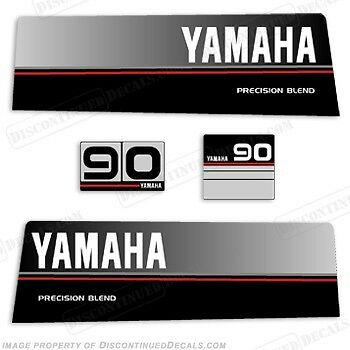 Yamaha 90hp 1986-1989 Outboard Engine Decal Kit 90 Decals