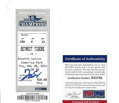 George Springer Autographed Ticket Stub 1st Home Run PSA Authenticated Astros