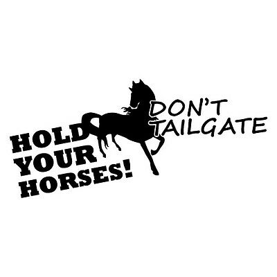 HOLD YOUR HORSES Sticker Decal Outback 4x4 Ute Country Aussie