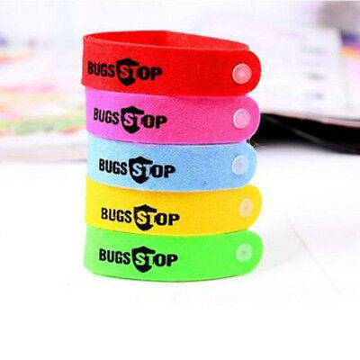 5PC Anti Mosquito Bug Repellent Wrist Band Bracelet Insect Nets Bug Lock Nice