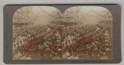 Stereo View Queen Victoria's Jubilee ? Detachment Of Royal North West Police