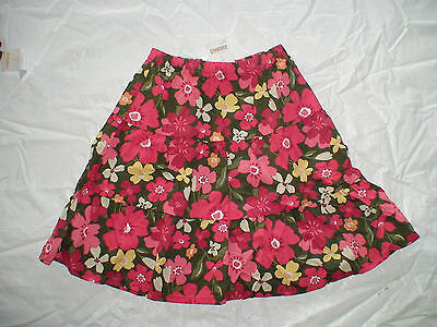 Nwt Gymboree Friendship Camp Pink Green Floral Skirt Back To School