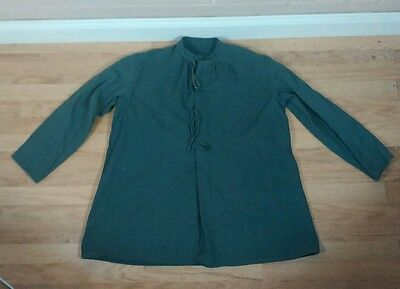 Vintage 40s 50s WWII Swiss Army Military Medical Smock Parka Shirt