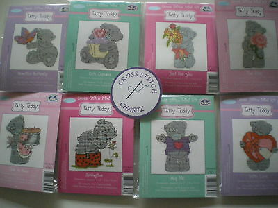 DMC Tatty Teddy Mini Kit CHOICE of 8 Designs Me to You NEW Cross Stitch Kit