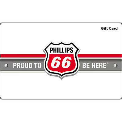 $100 Phillips 66 Gas Physical Gift Card - Standard 1st Class Mail Delivery
