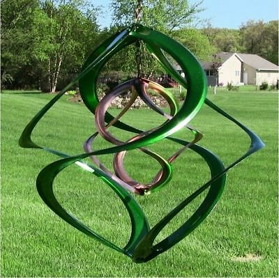 "Wind Spinner 14"" Hanging Spinners 4 Colors Garden Outdoor Patio Decor Copper New"