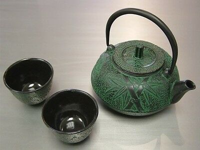 Teapot Tetsubin Kettle Japanese Cast Iron Trivet Tea Pot Cup Set Dining Infuser