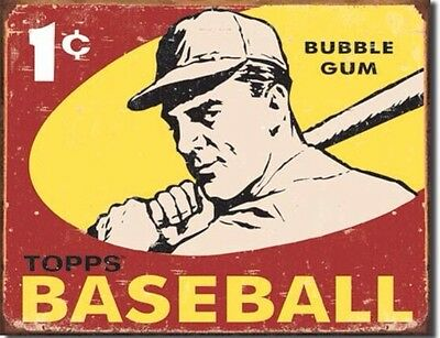 Topps 1959 Baseball Cards Bubble Gum Pack Metal Tin Sign 1404
